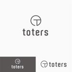 atomgraさんのトートバッグ、Tシャツ、ポロシャツ等のブランド「toters」のロゴへの提案