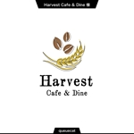 queuecatさんのカフェ、レストラン「Harvest Cafe」のロゴへの提案