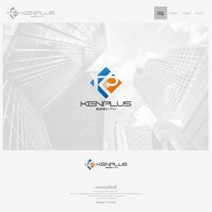 onesizefitsallさんの建設会社 防水工事「ケンプラス」のロゴへの提案