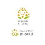 saki8さんのリラクゼーションサロン  「にこにこサロン KIRAKU」 のロゴへの提案