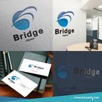 nekosuさんの外国人労働者対象サービス会社「ブリッジ・ジャパン株式会社」の企業ロゴへの提案