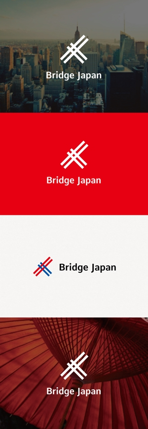 tanaka10さんの外国人労働者対象サービス会社「ブリッジ・ジャパン株式会社」の企業ロゴへの提案