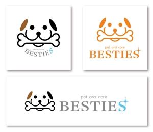 shino-907さんのペットオーラルケア「 BESTIES」のロゴへの提案