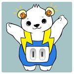 se4894さんの「しろくま」と「電気」を組み合わせたキャラクターのデザインへの提案