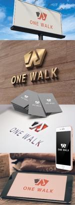 katsu31さんのニッチな供養業界専門のコンサルティング・広告代理店「ONE WALK」のロゴへの提案