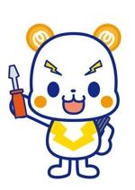 n_shoさんの「しろくま」と「電気」を組み合わせたキャラクターのデザインへの提案
