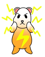HUYUTUKIさんの「しろくま」と「電気」を組み合わせたキャラクターのデザインへの提案