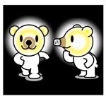 minagirura27さんの「しろくま」と「電気」を組み合わせたキャラクターのデザインへの提案