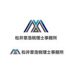 saki8さんの「松井章浩税理士事務所」のロゴ作成への提案