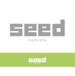 美容室 「seed hair&spa 」の ロゴ(商標登録予定なし)への提案