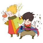 勇者2人のキャラクターデザイン(王道ファンタジーRPG風)への提案