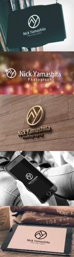 katsu31さんのフォトグラファー『Nick Yamashita Photography』のロゴへの提案