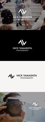 tanaka10さんのフォトグラファー『Nick Yamashita Photography』のロゴへの提案