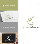 charisabseさんの女性の美しさを追求するマナー教室「grace blanca」のロゴへの提案