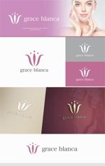 Doing1248さんの女性の美しさを追求するマナー教室「grace blanca」のロゴへの提案