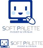 kuma-booさんの「パソコンスクール・ソフトパレット・SOFT PALETTE」のロゴ作成への提案