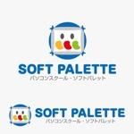 tripooさんの「パソコンスクール・ソフトパレット・SOFT PALETTE」のロゴ作成への提案