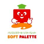 kazz_o_o_さんの「パソコンスクール・ソフトパレット・SOFT PALETTE」のロゴ作成への提案