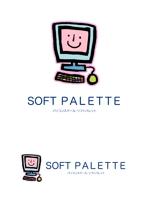 sakanouegoさんの「パソコンスクール・ソフトパレット・SOFT PALETTE」のロゴ作成への提案
