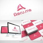 blockdesignさんの少し憧れな人と会えるマッチングサイト「Aeru.me」のロゴへの提案