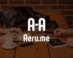 kanasuzukiさんの少し憧れな人と会えるマッチングサイト「Aeru.me」のロゴへの提案