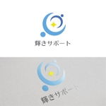 thedesignerさんの障害児の相談支援事業所「輝きサポート」のロゴへの提案