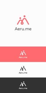 designdesignさんの少し憧れな人と会えるマッチングサイト「Aeru.me」のロゴへの提案