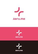 hareameさんの少し憧れな人と会えるマッチングサイト「Aeru.me」のロゴへの提案