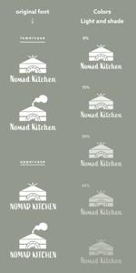 移動販売車の「NOMAD KITCHEN」のロゴへの提案