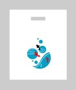 金魚のレジ袋(自社消費・他社販売 兼用)のデザインへの提案