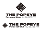 cambelworksさんのプライベートジム「THE POPEYE Personal Club by BLAZE FIT.」ロゴへの提案