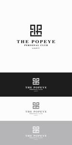 designdesignさんのプライベートジム「THE POPEYE Personal Club by BLAZE FIT.」ロゴへの提案