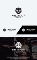 take5-designさんのプライベートジム「THE POPEYE Personal Club by BLAZE FIT.」ロゴへの提案