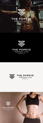 tanaka10さんのプライベートジム「THE POPEYE Personal Club by BLAZE FIT.」ロゴへの提案