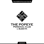queuecatさんのプライベートジム「THE POPEYE Personal Club by BLAZE FIT.」ロゴへの提案