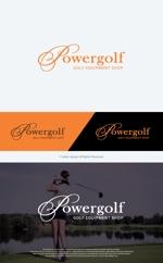 take5-designさんのゴルフ用品販売サイト(実店舗含む)『パワーゴルフ』のロゴへの提案