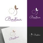 venusableさんのまつげエクステサロン「Beretour」(ベルトゥール)のロゴへの提案