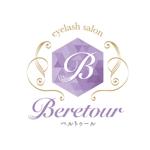 i165cm47kgさんのまつげエクステサロン「Beretour」(ベルトゥール)のロゴへの提案
