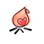 bluemoon_さんの「焚き火とハート」のアイコン製作ご依頼への提案