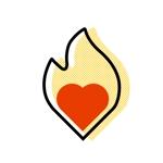 Hiroki_Nさんの「焚き火とハート」のアイコン製作ご依頼への提案