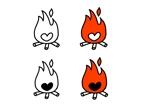 nknnneさんの「焚き火とハート」のアイコン製作ご依頼への提案