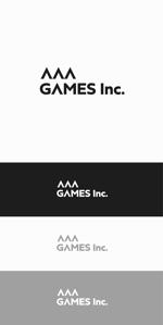 designdesignさんのオンラインゲーム会社「AAA GAMES Inc.」のロゴへの提案