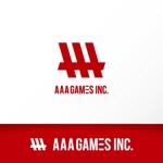 katachidesignさんのオンラインゲーム会社「AAA GAMES Inc.」のロゴへの提案