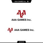 queuecatさんのオンラインゲーム会社「AAA GAMES Inc.」のロゴへの提案