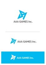 april48さんのオンラインゲーム会社「AAA GAMES Inc.」のロゴへの提案