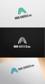 pekoodoさんのオンラインゲーム会社「AAA GAMES Inc.」のロゴへの提案