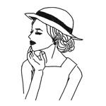 otsu29さんのスタイリッシュな女性の線画・ラインアートイラスト募集/新規オープンのマツエクサロンのロゴに使用への提案