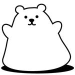 tanukikunさんの商品パッケージに使用する「しろくま」のイラストへの提案