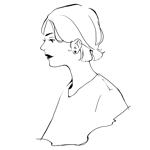 kghr16さんのスタイリッシュな女性の線画・ラインアートイラスト募集/新規オープンのマツエクサロンのロゴに使用への提案
