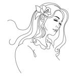babideさんのスタイリッシュな女性の線画・ラインアートイラスト募集/新規オープンのマツエクサロンのロゴに使用への提案
